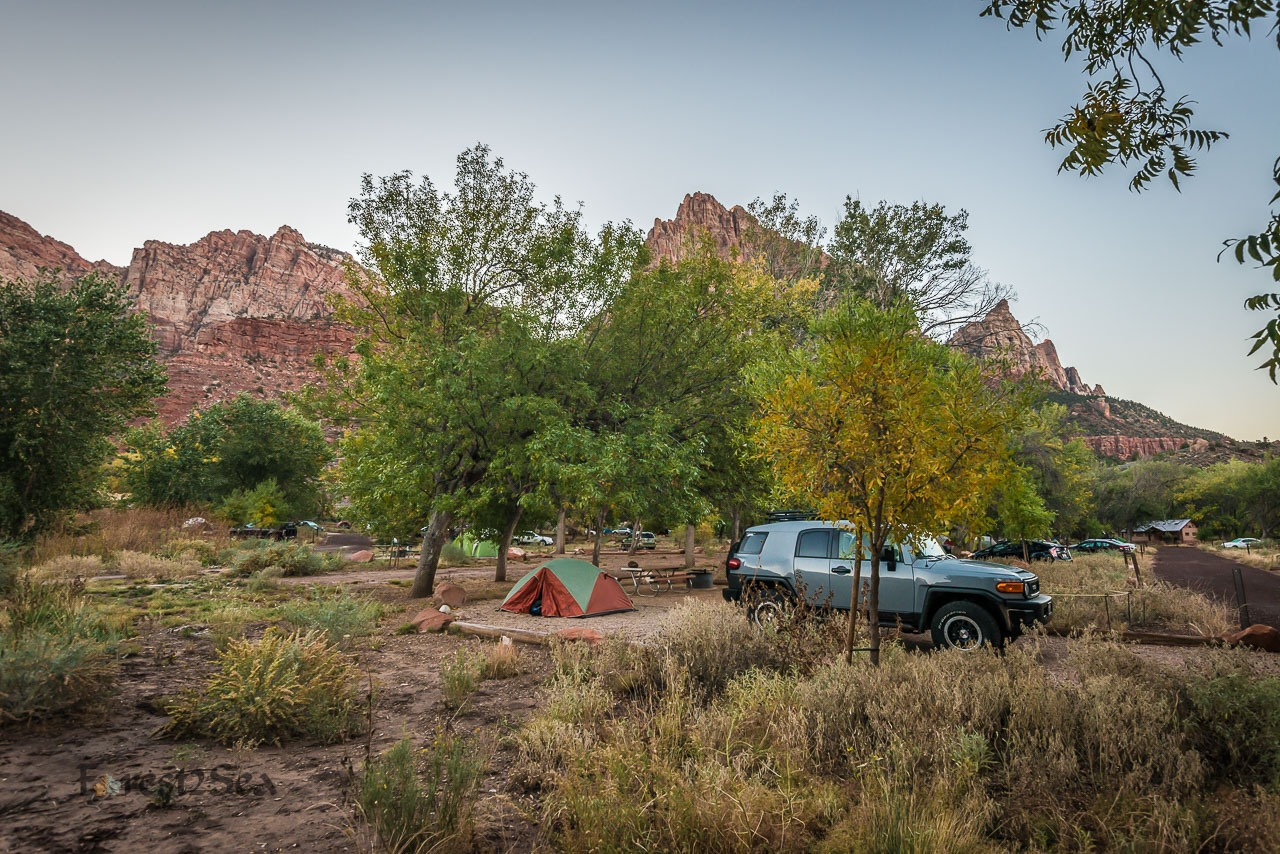 Zion Tent Camping