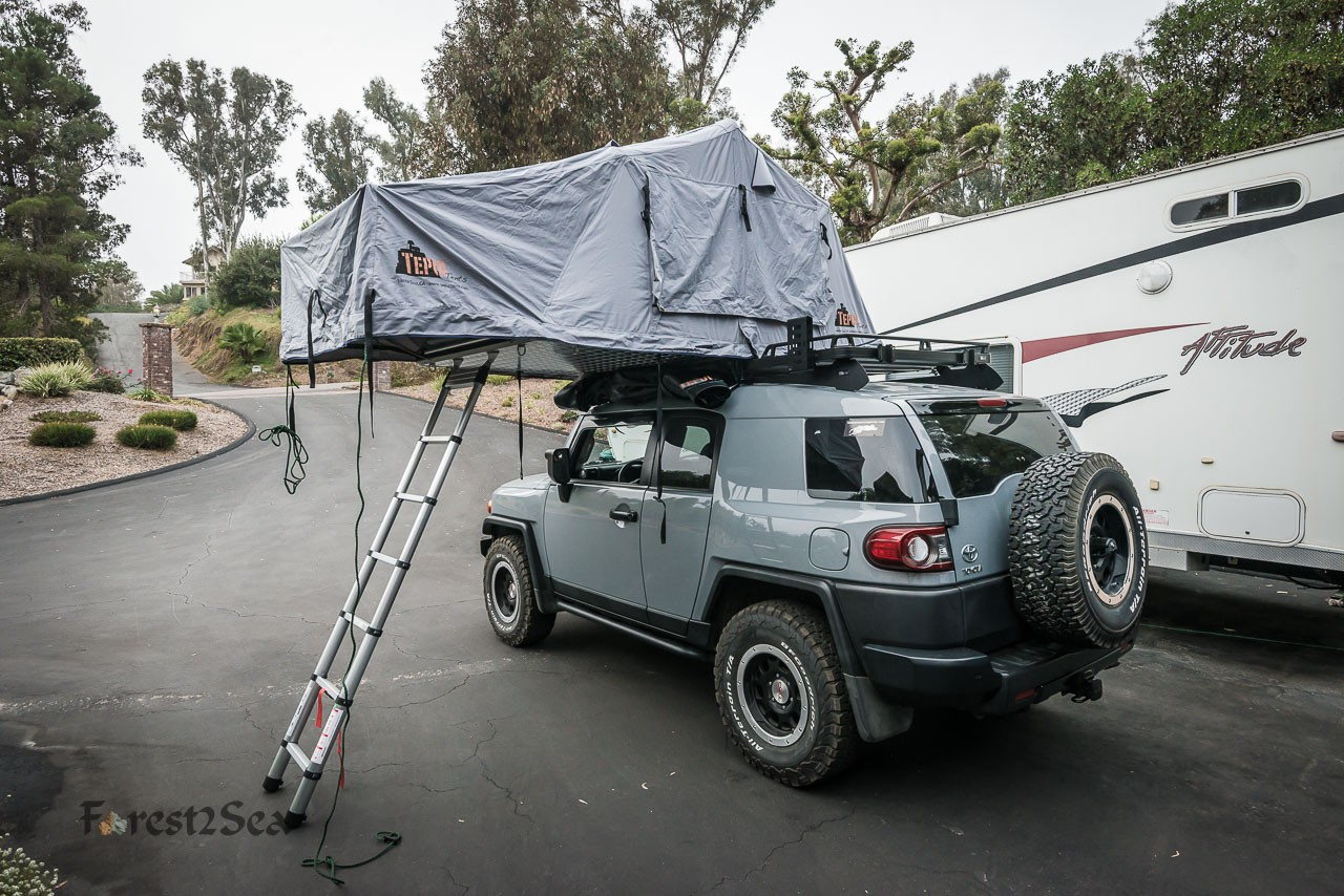 The new roof top tent deployed